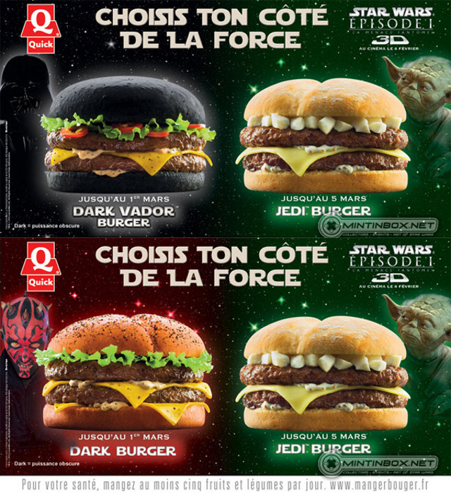 Star Wars burger! I'm puzzled about how they will make this black bread…