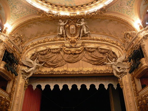 "a-l-ancien-regime:  Salle Favart (Opéra-Comique), Paris The Opéra-Comique is a Parisian opera company, which was founded around 1714  In 1743 the impresario Jean Monnet paid 12,000 livres to the Opéra for the right to run the Opéra-Comique, He renovated the theatre and brought together a group of highly talented creative artists, including, Favart, who worked as a stage director, the comedian ""Préville"" (real name Pierre-Louis Dubos), the stage designer François Boucher, and the ballet master Dupré and his pupil Jean-Georges Noverre. Jean-Philippe Rameau may also have been the leader of the orchestra."