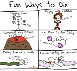 Fun ways to die