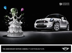 """Anything but cute"" Mini Cooper Ad"