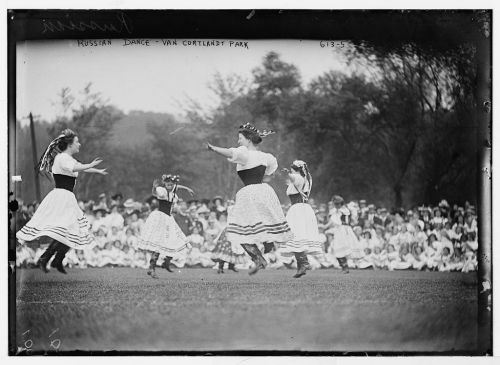 Russian folk dancing in Van Cortland Park, Bronx, New York