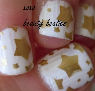 Seeing stars nail stamping using Bundle Monster plates, Jessica Nails & Nails Inc polishes. #nails #nailart #nailstamping #manicure #stars #nailpolish