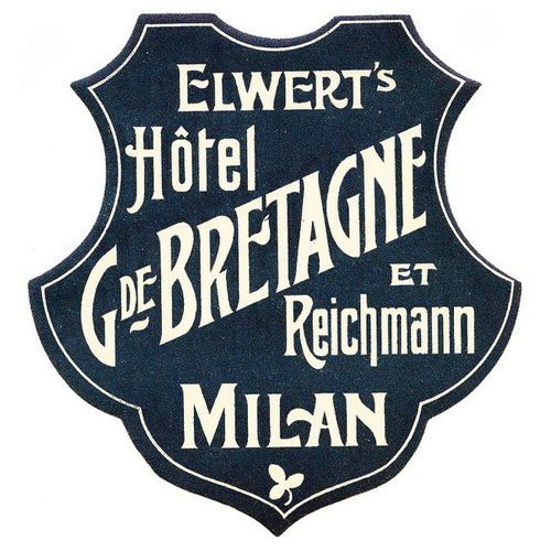 Vintage luggage label via Designersgotoheaven.com. Looks like a badge. An AWESOME badge. Via andreirobu:  Designersgotoheaven.com - Vintage luggage label.