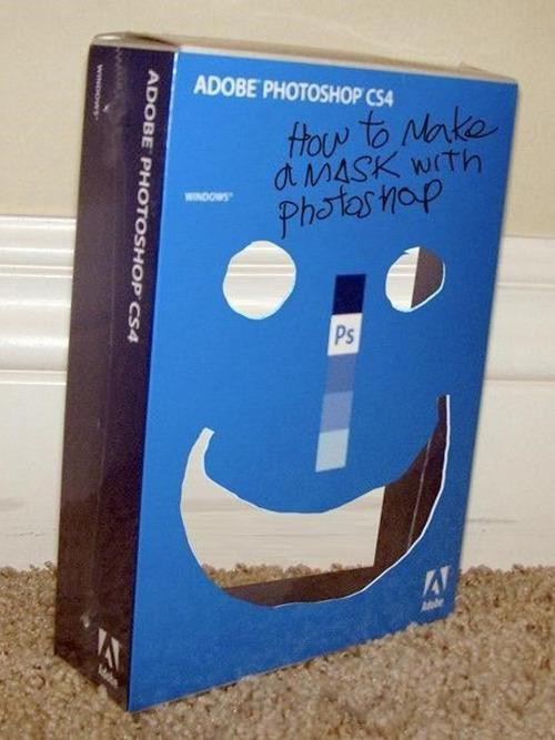 How to make a mask with photoshop.