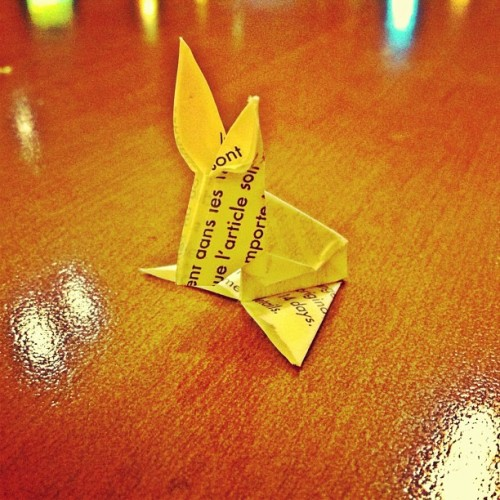 Origami Rabbit - #iphone #iphonesia #iphoneography #igers #art #origami #cute #ignation  (Taken with instagram)