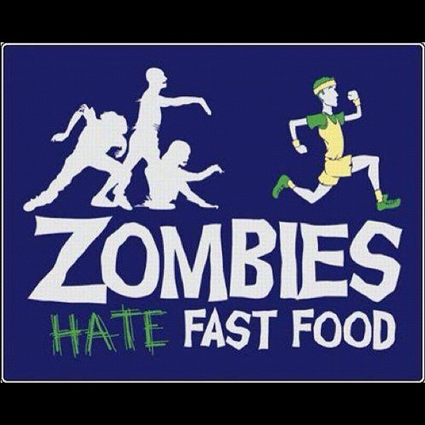 Zombies hate fastfood! #zombies #hate #fastfood #brains #burgerking #mcdonalds #sport #run #freak #geek #fun #cardio #walkingdead (Taken with instagram)