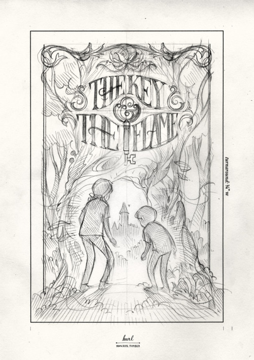 Sketch for a book cover I'm working on for Simon & Schuster.