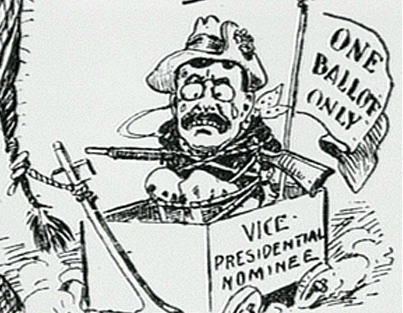 JANUARY 6, 1919: THEODORE ROOSEVELT DIES On this day in 1919, former president Theodore Roosevelt died at the age of 60.  Head on over to American Experience's TR site to flip through political cartoons from his day.