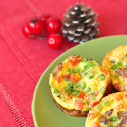 Scramble Egg, Bacon and Pepper Muffins click here for the recipe!