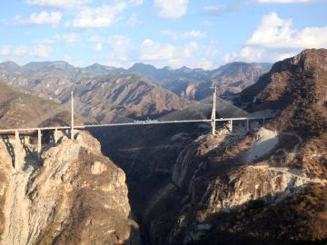 architizer:   The newly inaugurated Baluarte bridge in northern Mexico is officially the world's tallest suspension bridge. [Reblogged via globalpost]