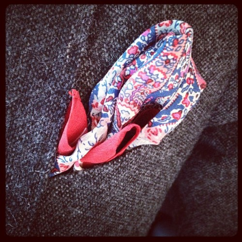 Parked some paisley in my pocket today.  (Taken with instagram)