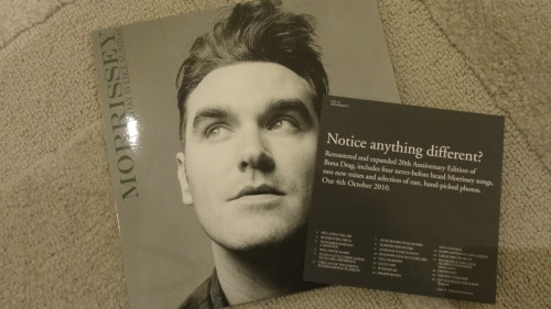 "#Morrissey, Every day is like Sunday, 7"" #vinyl , UK. ""Notice anything different? #mozarmy"
