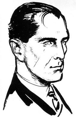 Ian Fleming's image of James Bond; commissioned to aid the Daily Express comic strip artists.
