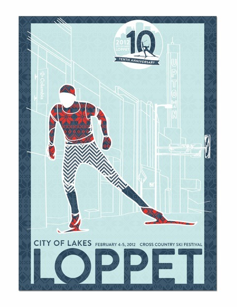 Here's the Duffy-designed Loppet poster. Let's hope we get some snow before the festival!!