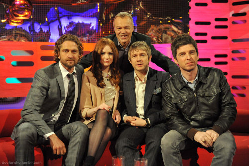 Karen Gillan to appear on The Graham Norton Show at 10/9c this Saturday on BBC America (tonight at 22:35 on BBC One) Karen joins Graham and guests Martin Freeman, Noel Gallagher, and Gerard Butler