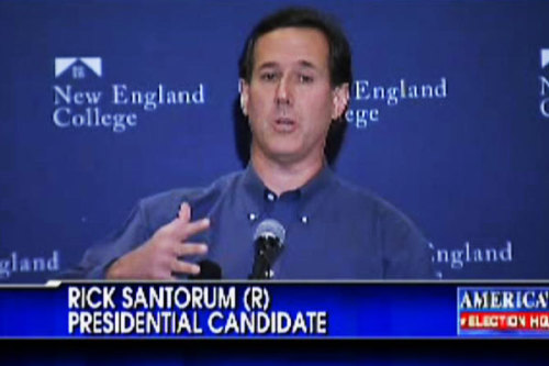 Photographic proof that Rick Santorum needs to get on the mullet train. This look is working for him … CLICK HERE FOR THE 10 WORST CELEBRITY MULLETS OF ALL TIME.