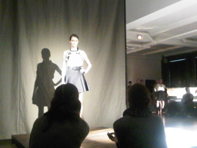 Spot the pianist in the right hand corner at the Lanvin #PF12 presentation - he was playing Elton John's Tiny Dancer.