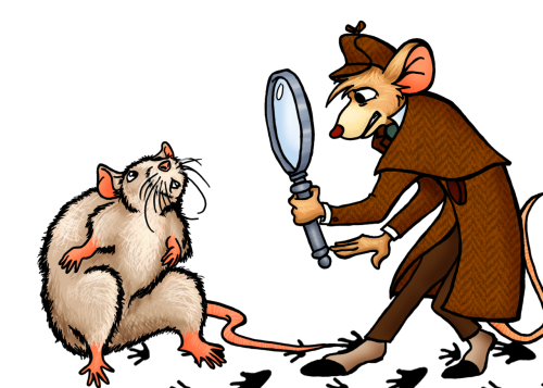 The Great Mouse Detective finds a rat by Kate Stewart. http://klouart.deviantart.com/