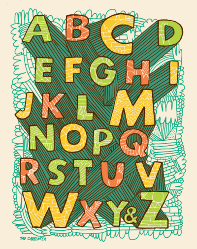 I recently designed an exclusive alphabet print for Land of Nod. So if you got a little one at home or need an alphabet refresher go grab one here.