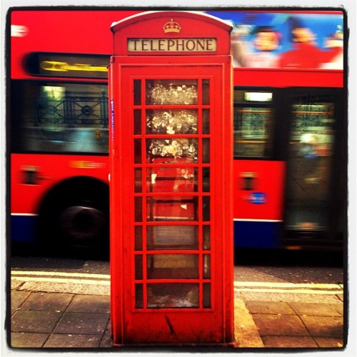 Telephone booth London (Taken with instagram)
