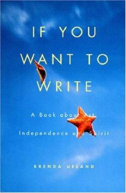 If you are a writer or want to be.  If you long for more time to muse.  If you pine for inspiration.  This is one of the most wonderful books to read, own, give, get. I have a vintage copy I keep and dozens I've given as gifts. Originally written in the 30's by author Brenda Ueland  - it's a must have for any writer, no matter your genre of choice. (via Amazon.com: If You Want To Write: A Book about Art, Independence and Spirit (9781935785576): Brenda Ueland: Books)