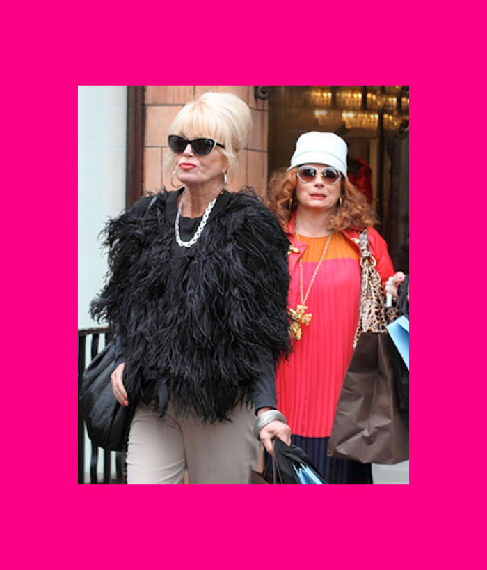 Love to Love | Absolutely Fabulous is Back! Here's the deal. If anyone appreciates the delicious and hilarious fun of Excess, it's us! So to say that we're anxiously and excitedly counting-down-the-seconds to the return of Patsy Stone and Edina Monsoon this Sunday evening, would be nothing short of an understatement. We're going to invite our best friend over, throw on our silk track pants, pop a bottle (or three) of bubbly, (maybe sneak a cigarette), and laugh our asses off at the BBC cult classic. You should too. xx  Photo by EW.com.