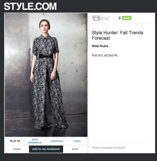 Look #12 on Style.com's Style Hunter!