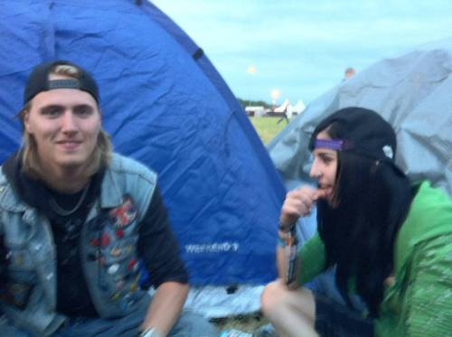 Metaltown 2011. My ex best friend and me.Bring on summer! And beer! And music festivals! And stupid ideas!So fucking sick of the cold weather now. BLEH!