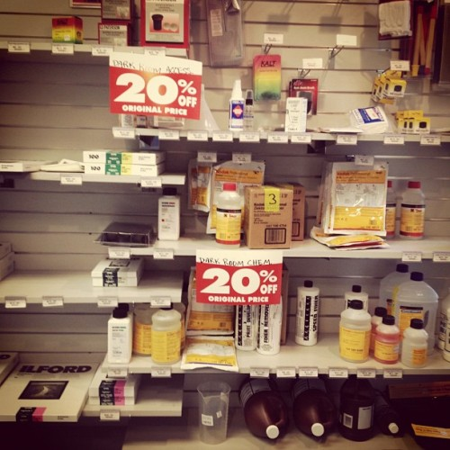 Chemistry for sale at Penn Camera in DC. (Kainaz Amaria/NPR) via Instagram