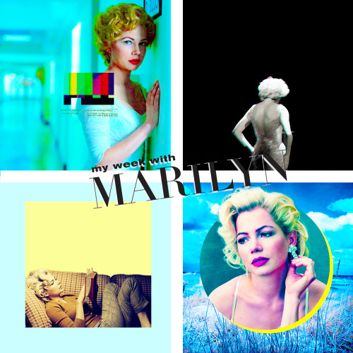 nancy-alex:  Movies of 2012  1. My week with Marilyn  First of all I love Marilyn herself. And from the trailer I can tell that  they got totally my vision of Marilyn. So tired of her fame, wanting  some real life. Starting here on 2 of February.