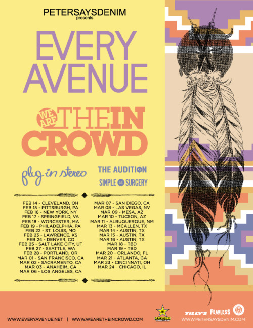 The Audition have been added to our upcoming tour with Every Avenue, Plug In Stereo, and Simple As Surgery. Hope to see you guys there!