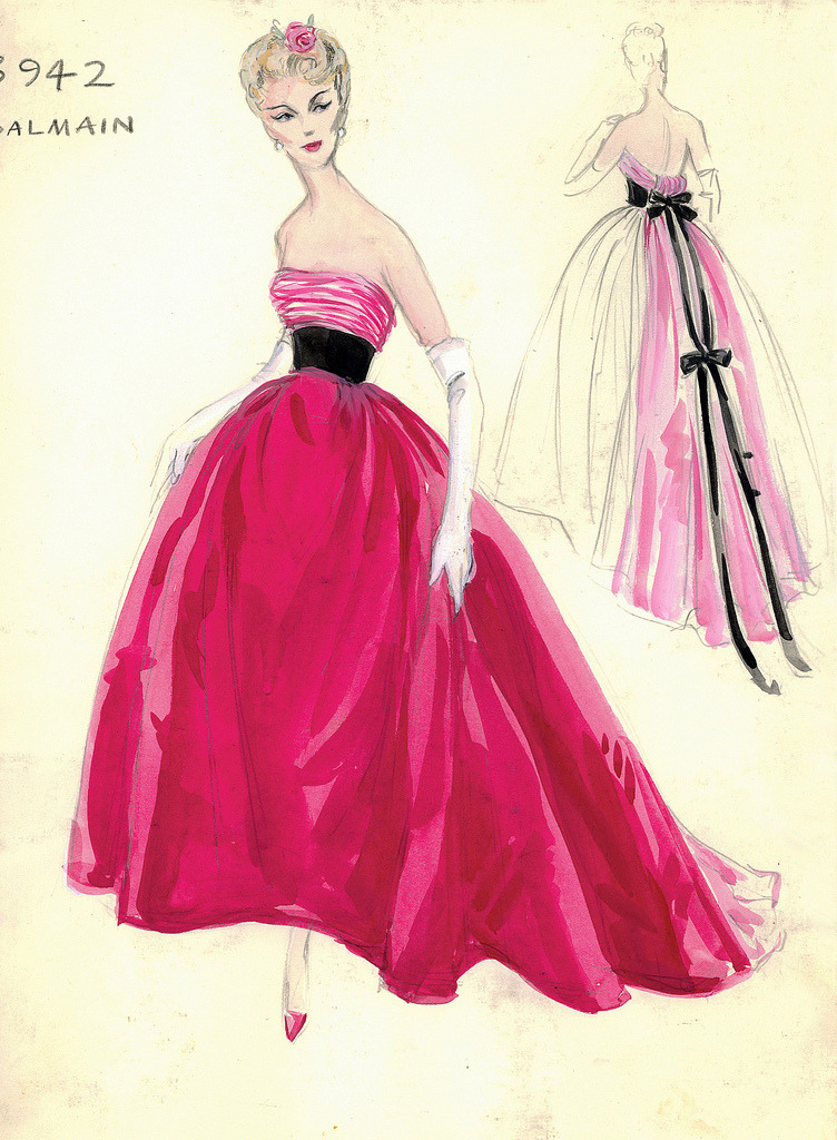 forties-fifties-sixties-love:  Balmain for Bergdorf Goodman