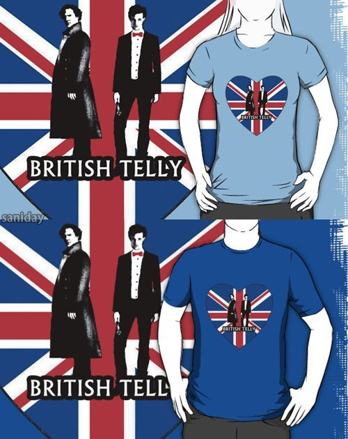 'I heart British Telly' sold here. as t-shirts, posters, stickers and etc :3