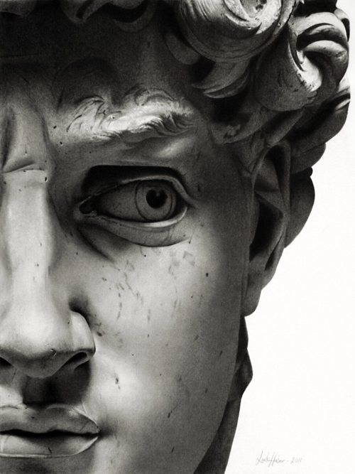 wasbella102:  David's Face by Michelangelo