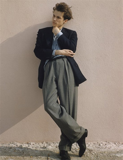 foolonyou:  Glenn Gould in the 1950s. Pleated pants done well.