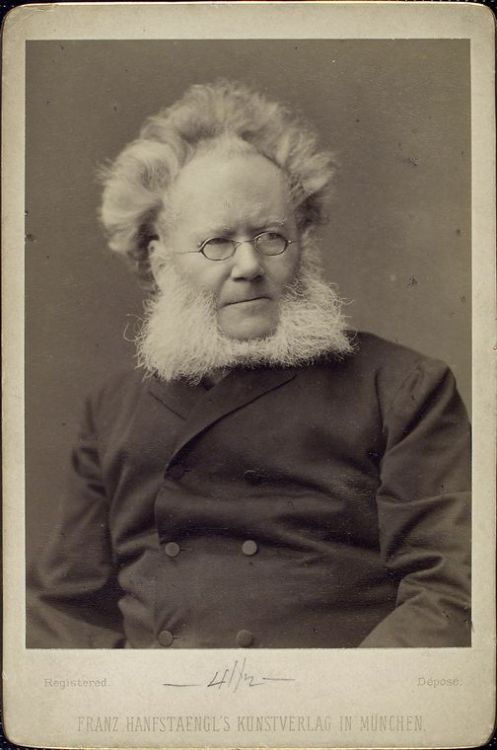 megkips:  nypl:  For today's Mustache Monday, let us introduce Henrik Ibsen (1828-1906), Norwegian playwrite, author of A Doll's House and Hedda Gabler, among others. Clearly, electrified hair = great theater (see also: Peter Sellers). This photo is one of over 260 portraits of notable figures collected by radical publisher Benjamin R. Tucker in the late 19th century. Check them out here.  dear internet—Please observe the New York Public Library's mastery of tumblr with it's institution of Mustache Mondays and the fact that, dude.  That is impressive.   Reason #98346 I want to move to New York next year…