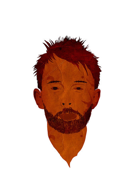 Creep. Thom Yorke illustrated by George Prentzas :: via lurvely.com