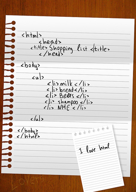 html shopping list illustration by George Prentzas :: via lurvely.com