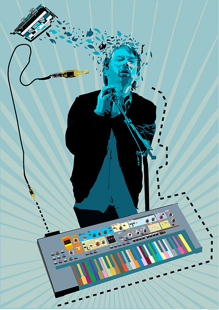 idioteque Thom Yorke illustrated by George Prentzas :: via georgeprentzas.com