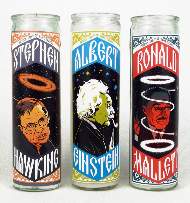 bless these amazing candles laughingsquid:  Patron Saints of Time Travel Candles From Echo Park Time Travel Mart
