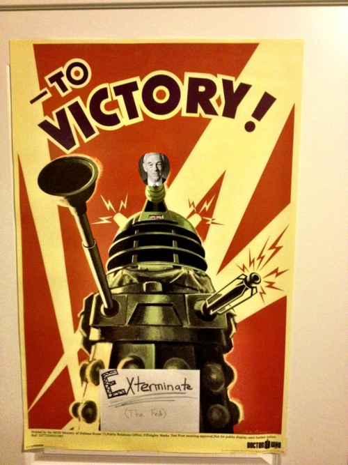 laughinglibertarian:  Possibly the coolest Christmas gift. Exterminate the Fed!!!