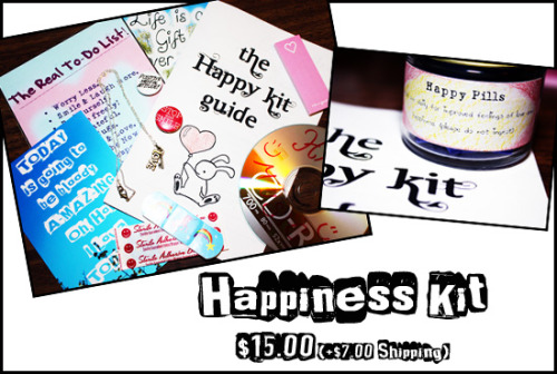The Happiness Kit!  The Happiness Kit is a lovely ensemble of items to inspire and brighten your day. Loaded with love and positivity, this kit is designed to aid your journey in a Positive manner.