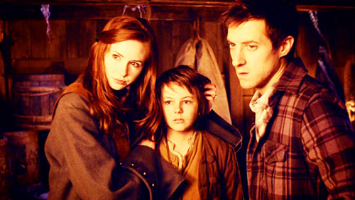 Amy and Rory and Toby Avery From Doctor Who Series 6: The Curse of the Black Spot.