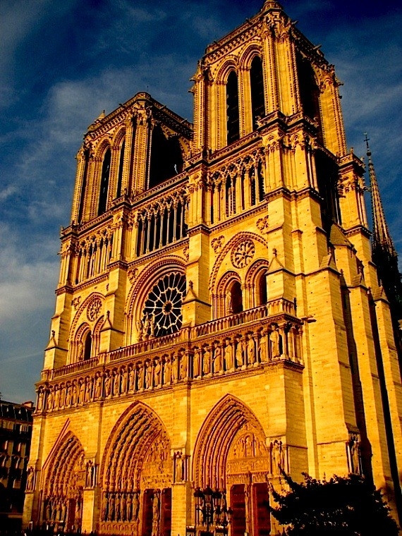 | ♕ |  Glorious Notre Dame - Paris at dusk  | by © one day at a time