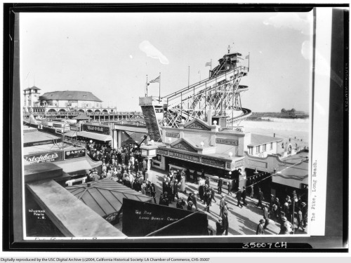 1929 view of the Pike in Long Beach