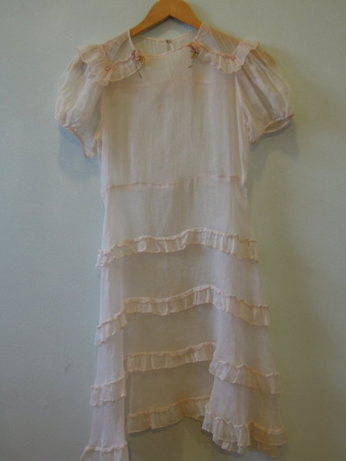 (via Sweet girly sheer soft pink day dress with ruffles by commissar)