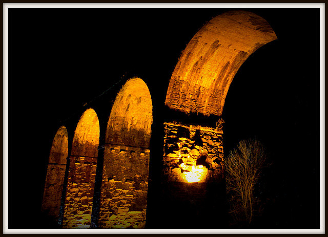 Kilmacthomas Viaduct By Night - January 4th 004 040112 [EXPLORED 199] by Wayne.Brown on Flickr.