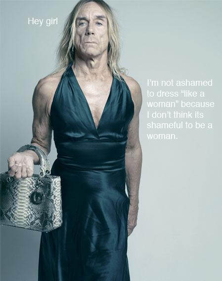fuckyeahwomenprotesting2:  feministpunkrockers:  Evening Iggy.  THERE IS A FEMINIST PUNK ROCKERS