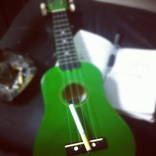 Writing like a madman. Pumped out 2 songs in one week. (Taken with instagram)