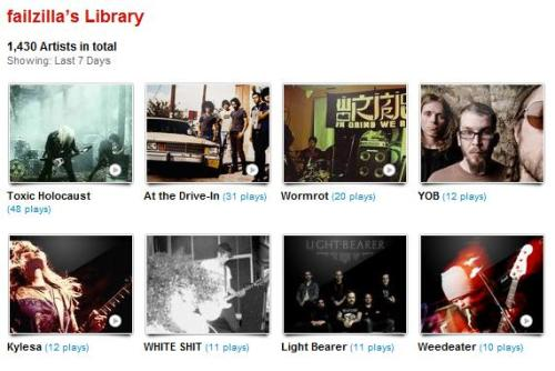 my last.fm for 12.31.11 - 01.06.12